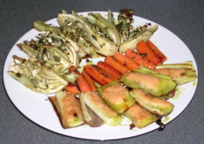 Gebackenes Gemüse aus dem Ofen