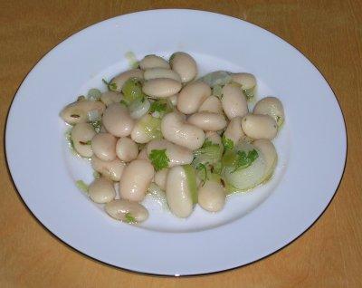 Pfingstmenü: Salat von weißen Bohnen