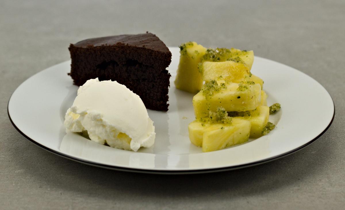 Schokoladenkuchen zum Nachtisch