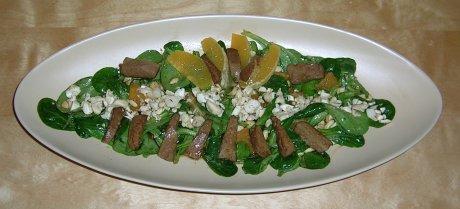 Feldsalat mit Seitan