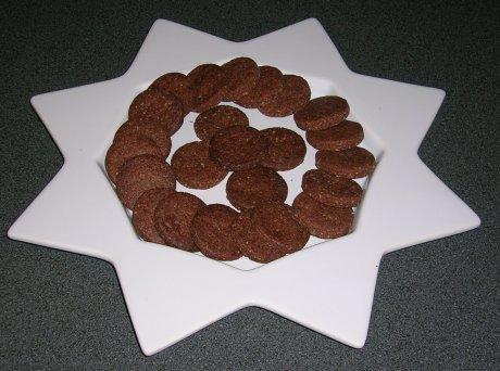 Schokoladen-Mandel-Plätzchen