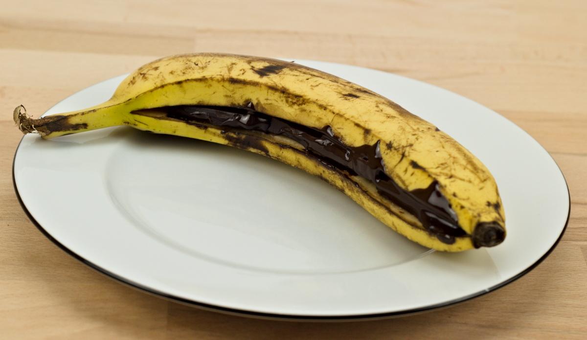 Banane mit Schokolade vom Grill