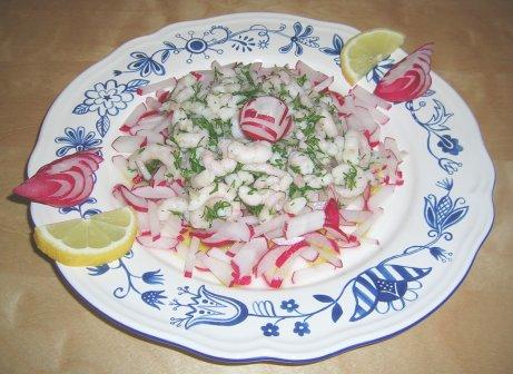 Krabbensalat mit Radieschen