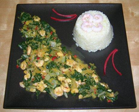 Anchia mit Shrimps