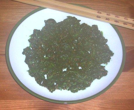 Brunnenkresse-Salat mit Sesam