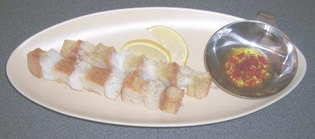 Fischspieße mit Piri-Piri-Sauce