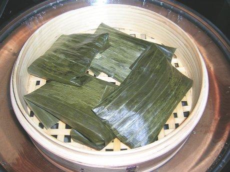 Gedämpfte Quinua-Päckchen