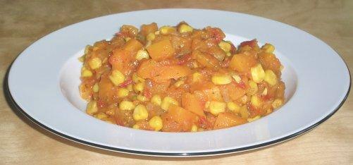 Kürbis-Mais-Gemüse