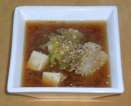 Misosuppe mit Rettich