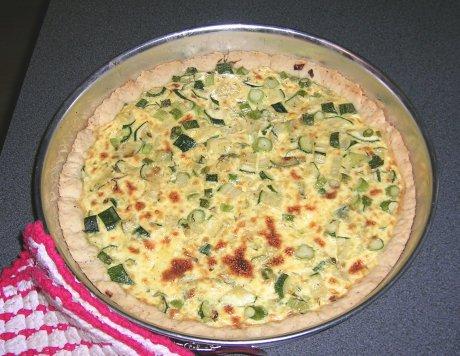 Spargel-Zucchini-Tarte