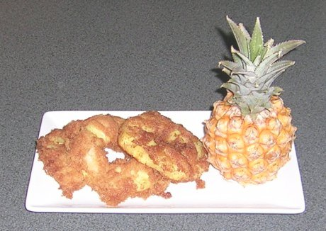 Frittierte Ananas