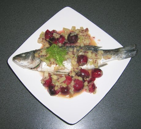 Makrele in Stachelbeer-Fenchel-Sauce