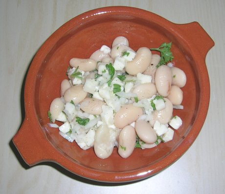 Weiße Bohnen mit Mozzarella