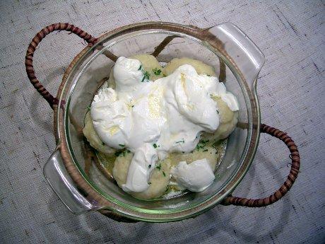 Gefüllte Kartoffelklöße