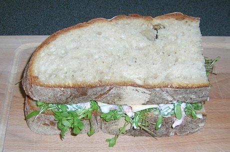 Garnelen-Kresse-Sandwich