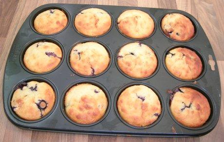 Selbstgemachte Blaubeer-Muffins
