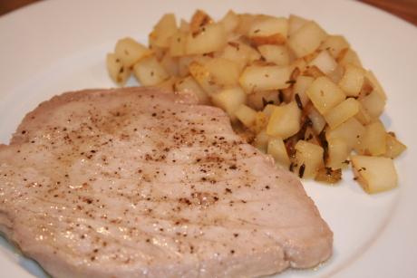 Thunfisch mit Birnensalsa