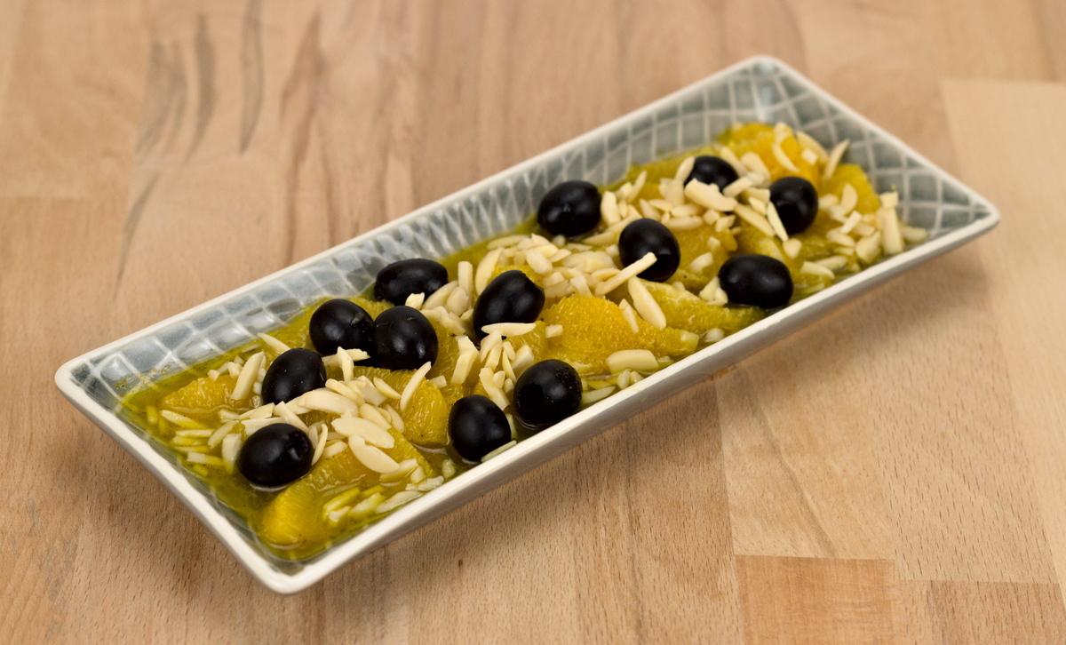 Orangen-Oliven-Tapas