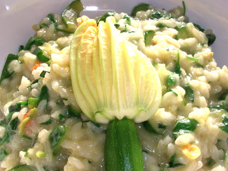 Risotto mit Zucchini und Zucchiniblüten