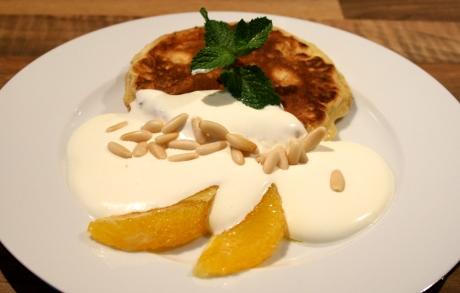Orangen-Pancakes