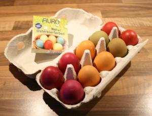 Auro Natur-Ostereierfarben Beispiel