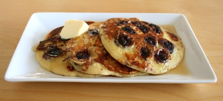 Pancakes mit Blaubeeeren