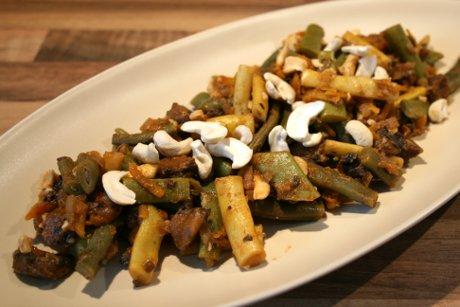 Bohnen-Pilz-Curry