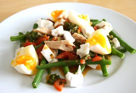 Bohnensalat mit Ziegenkäse