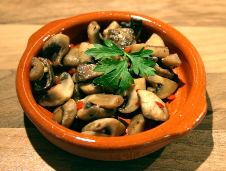 Chili-Pilze Tapas-Rezept