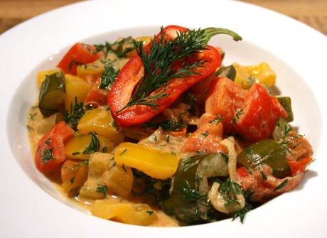 Gurken-Paprika-Gemüse