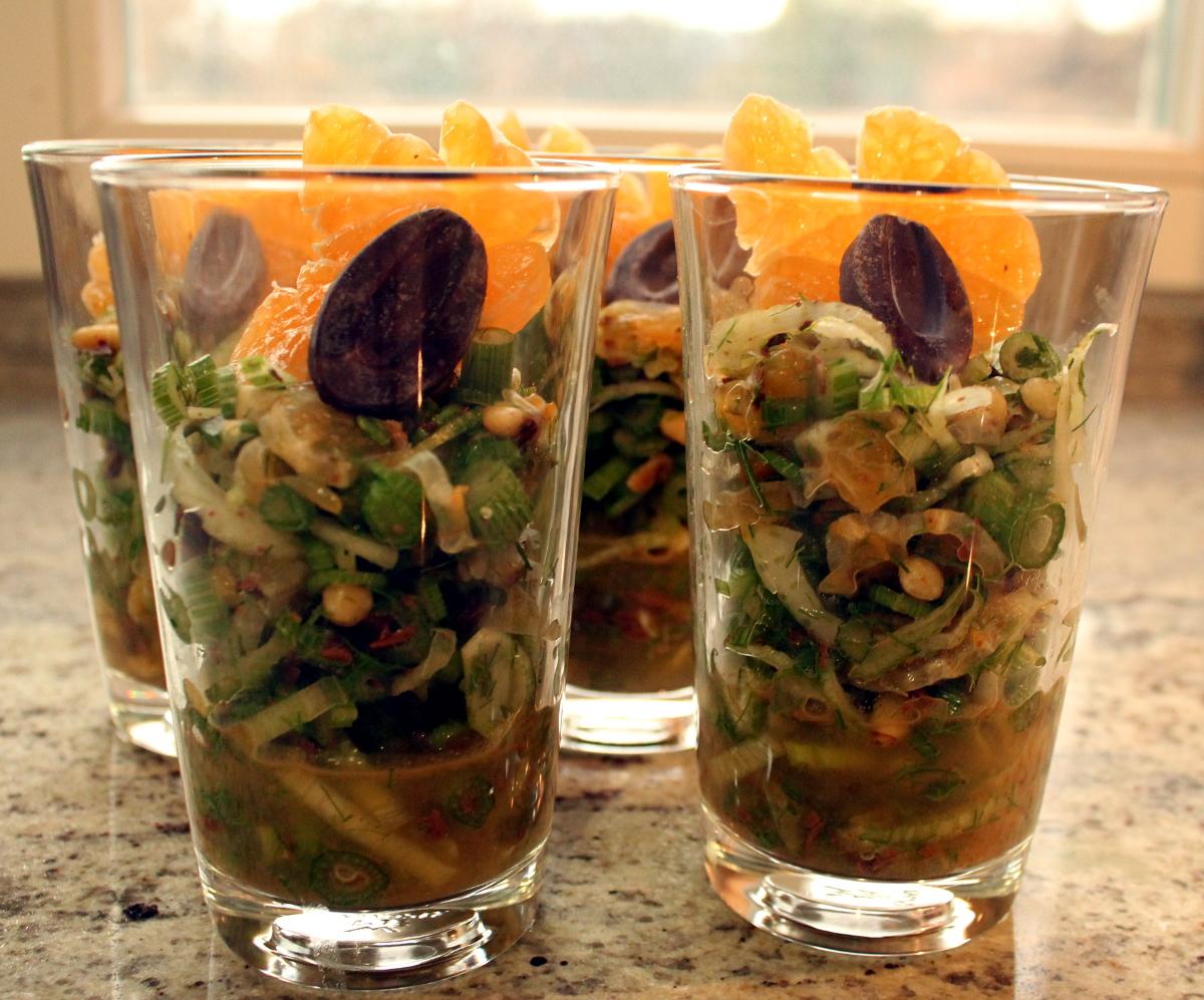 Fenchel-Clementinen-Salat mit Schokolade
