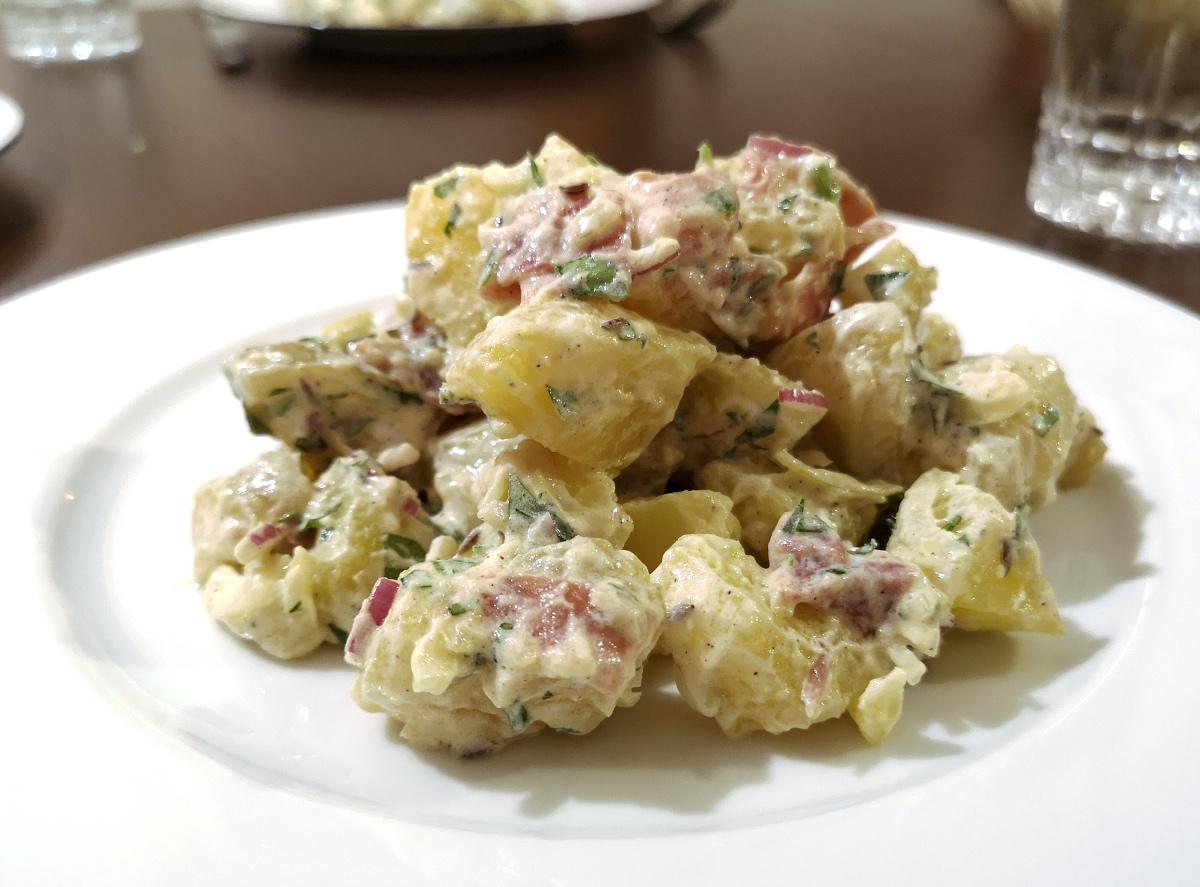 Kartoffelsalat mit Parmaschinken