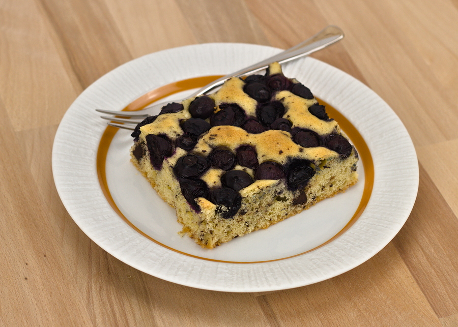 Blaubeer-Schokoladen-Kuchen vom Blech